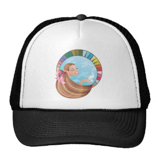 Spring type girl with palette trucker hat