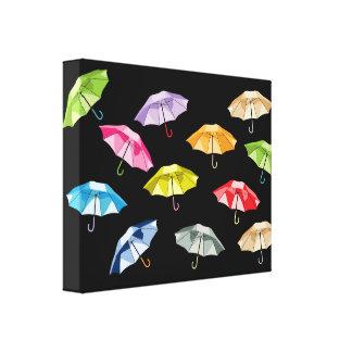 Spring Umbrellas Canvas Print