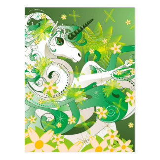 Spring unicorn postcard