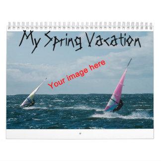 Spring Vacation Calendar