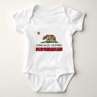 spring valley california flag baby bodysuit