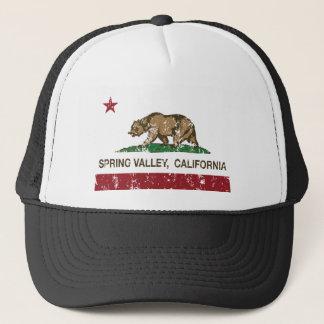 spring valley california flag trucker hat