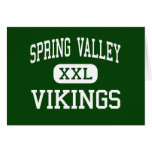 Spring Valley - Vikings - High - Columbia Greeting Card