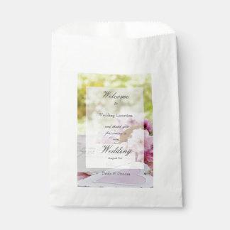 Spring vintage flower loveletter wedding favor bag