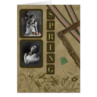 Spring Vintage Greeting Card