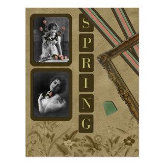 Spring Vintage Postcard