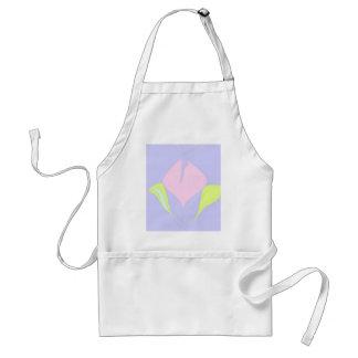 Spring – violet pink green floral pattern adult apron