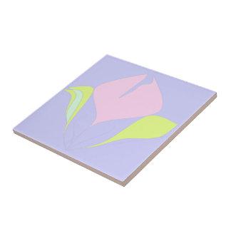 Spring – violet pink green floral pattern ceramic tile
