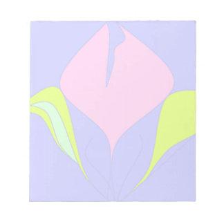 Spring – violet pink green floral pattern notepad