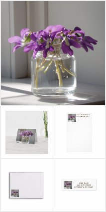 Spring Violets Stationery Collection