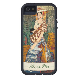 Spring Warmth Chen Yongle oriental lady and child Case For iPhone SE/5/5s