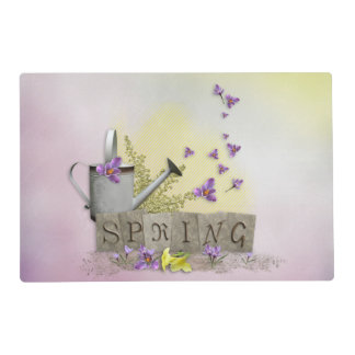 "Spring - ""Water Can & Signs of Spring"" Placemat"