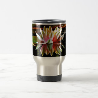 SPRING WATER LILY IN A POND TRAVEL MUG