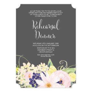 "Spring Watercolor Floral Rehearsal Dinner Invite 5"" X 7"" Invitation Card"