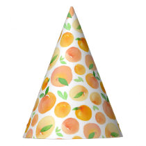 Spring Watercolor Peaches Pattern Party Hat