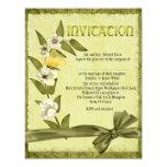 Spring Wedding 4.25x5.5 Paper Invitation Card