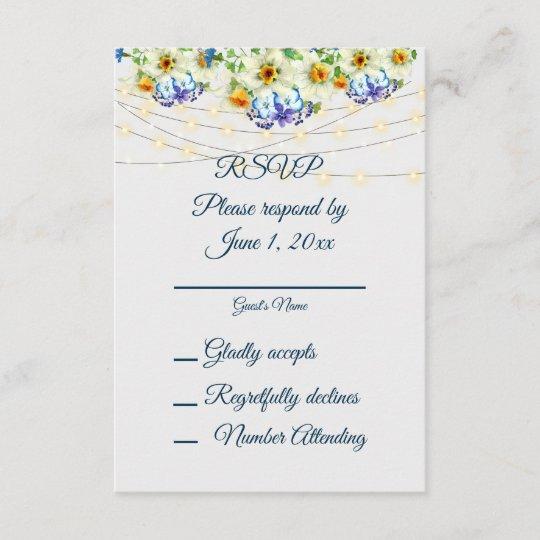 Spring Wedding And Reception Rsvp Menu Options