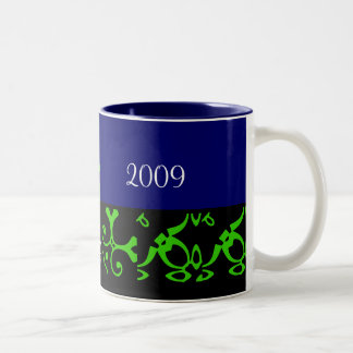 Spring Wedding Black & Blue Mug - Customizable