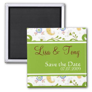 Spring Wedding - Customized magnet