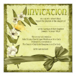 Spring Wedding 5.25x5.25 Square Paper Invitation Card