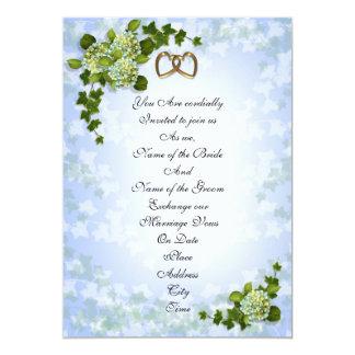 Spring Wedding invitation Hydrangeas