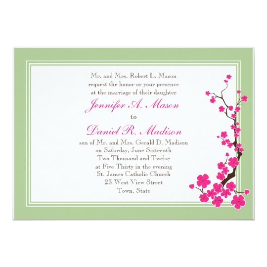 Spring Wedding Invitations | Pink Dogwood