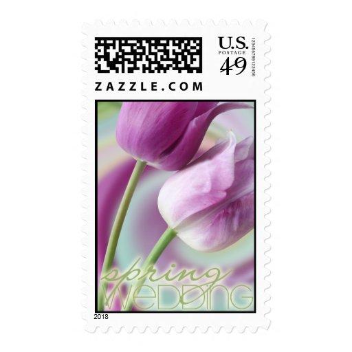 Spring Wedding Postage Stamp