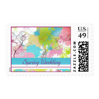 Spring Wedding Postage Stamps - Pastel Floral Post