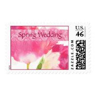 Spring Wedding Postage Stamps - Pink Tulip Postage