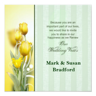 Spring Wedding Renewal Invitations
