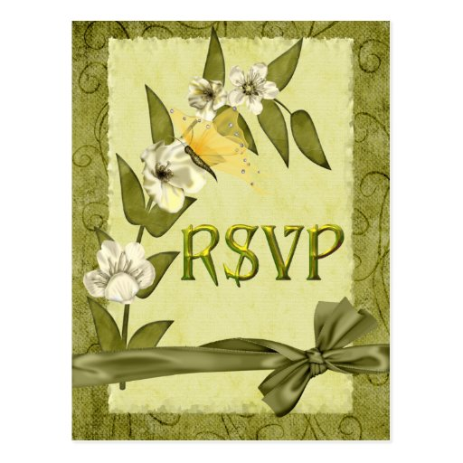 Spring Wedding Suite RSVP Postcard