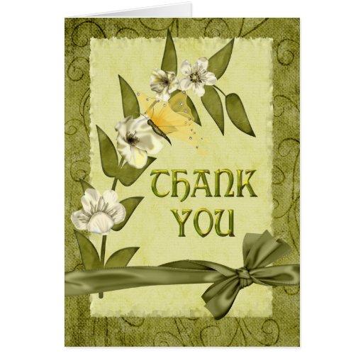 Spring Wedding Thank You Greeting Cards