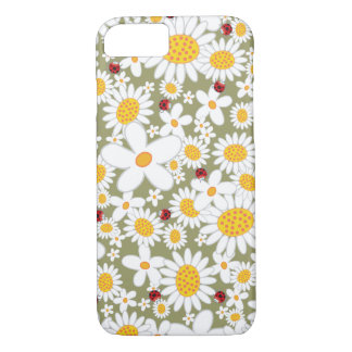 Spring White Daisies Ladybugs iPhone 7 case