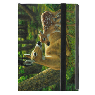 Spring Whitetail Doe and Fawn Cases For iPad Mini