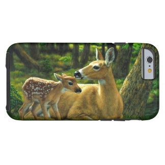 Spring Whitetail Fawn and Mother Deer Tough iPhone 6 Case