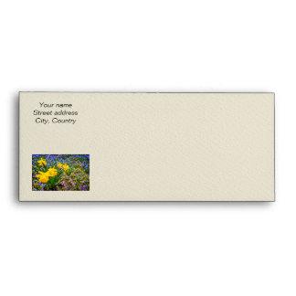 Spring wildflowers envelope