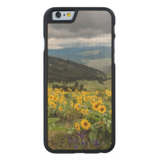 Spring Wildflowers In The Hills Carved Maple iPhone 6 Case