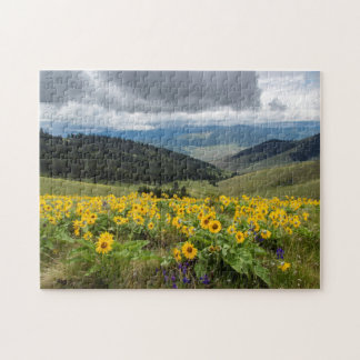 Spring Wildflowers In The Hills Jigsaw Puzzle