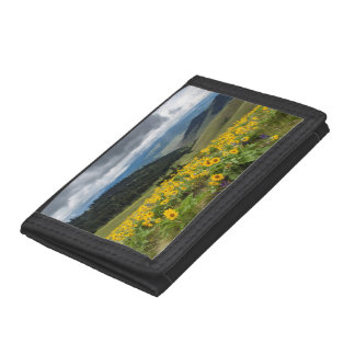 Spring Wildflowers In The Hills Tri-fold Wallet
