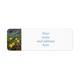 Spring wildflowers label