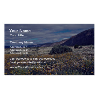 Spring wildflowers Pink flowers Double-Sided Standard Business Cards (Pack Of 100)