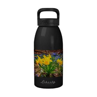 Spring wildflowers reusable water bottles