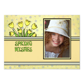 """Spring Wishes - Photo Spring Holiday Card 5"""" X 7"""" Invitation Card"""
