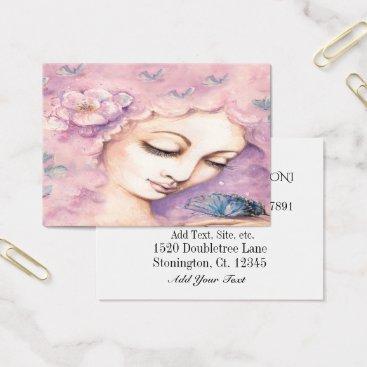 Beach Themed Spring Woman Business Card