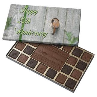 Spring Wren Garden Birdhouse Happy 20th Anniversar 45 Piece Box Of Chocolates