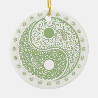 Spring Yang Double-Sided Ceramic Round Christmas Ornament
