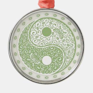 Spring Yang Round Metal Christmas Ornament