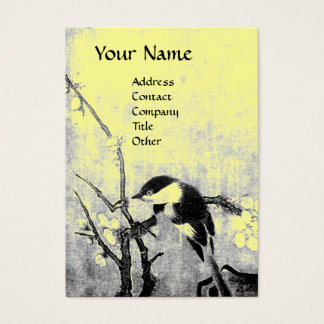 SPRING ,yellow Business Card
