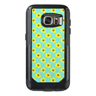Spring yellow clover and light blue background OtterBox samsung galaxy s7 case