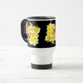 Spring Yellow Daffodil Bunch Travel Mug